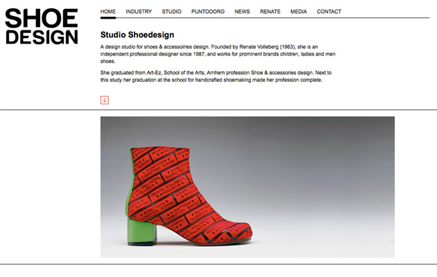 Homepage van Shoedesign.nl
