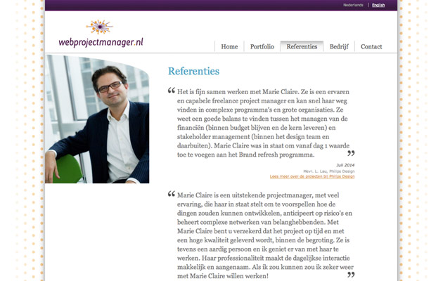 Referenties over Webprojectmanager.nl Webprojectmanager.nl