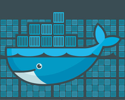 Grafische interfaceontwerp voor de softwareconferentie Dockercon